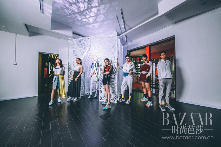 (从左到右):StudioNOWHERE联合创始人Angie,艺术家Juno Shen,歌手演员周洁琼,演员王紫璇,足球运动员王思锦,足球运动员李冬娜