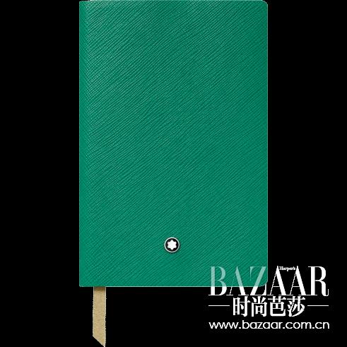 万宝龙精品文具系列祖母绿色横格笔记本