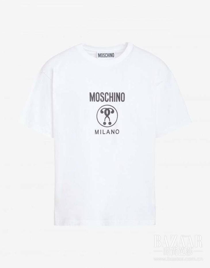 MOSCHINO 2019春夏系列白色简约LOGO字母T恤 RMB 1,690