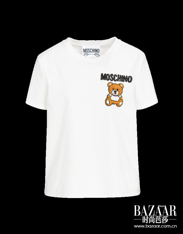 MOSCHINO 2019春夏系列泰迪小熊刺绣图案T恤 RMB 3,690