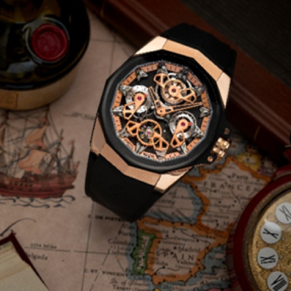 乘风破浪,阳刚遒劲  CORUM昆仑表海军上将系列AC-ONE 45 Openworked腕表,以镂空机械之美彰显极致创意