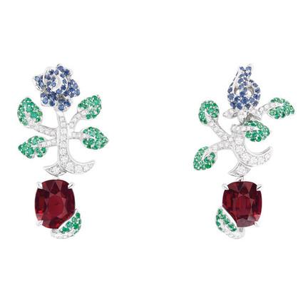 來自花卉的靈感 迪奧花園主題高級珠寶  Dior高級珠寶Rose Dior系列 Dior的玫瑰故事