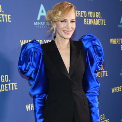 Cate Blanchett身着Alexander McQueen亮相纽约