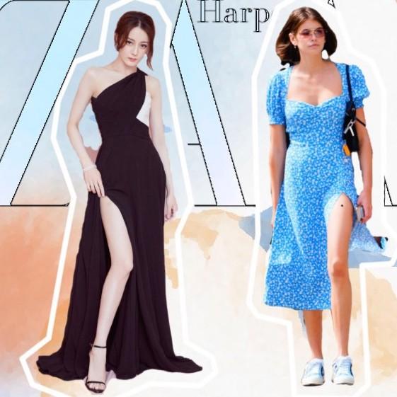 开衩裙让超模AA都滑铁卢,根据腿形来选才可行?