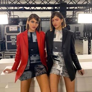 这对双胞胎姐妹花居然比Hadid姐妹还要时髦还要酷?【芭莎女孩不认输】