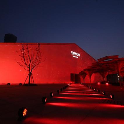 阿玛尼美妆于上海举办全新「琉金」红管唇釉上市活动