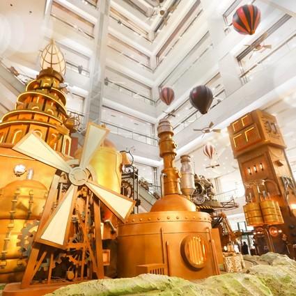 .国内首个蒸汽朋克动力装置展,时光礼物工场亮相朝阳大悦城