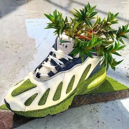 球鞋当花瓶,鲜花填充羽绒服?时尚界的环保也太香了!