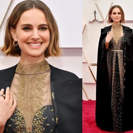 为女导演发声的娜塔莉・波特曼,将名字绣在长裙上