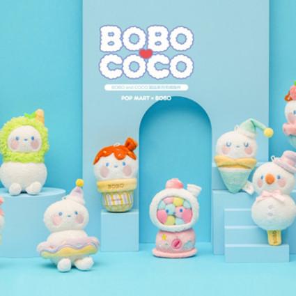 POP MART 泡泡瑪特首推毛絨盲盒 BOBO&COCO甜品系列邀你共度午后時光
