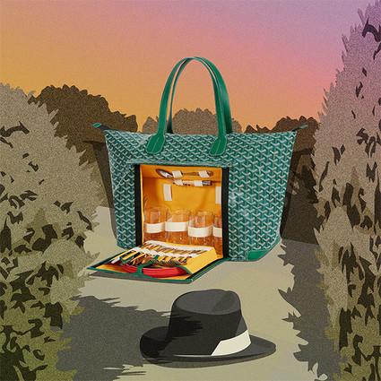 Goyard全新推出彩虹色野餐包 带您领略Goyard的野餐艺术