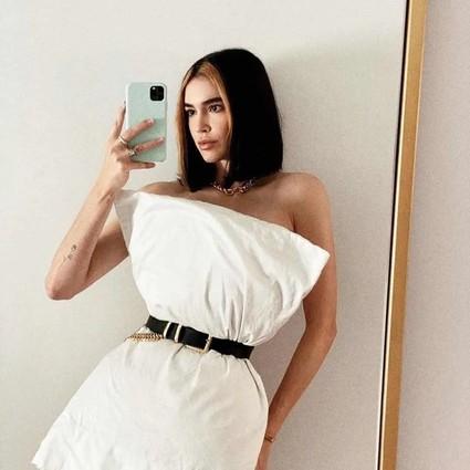 枕头礼裙挑战确定是在PK凹造型,而不是比谁腰细吗?