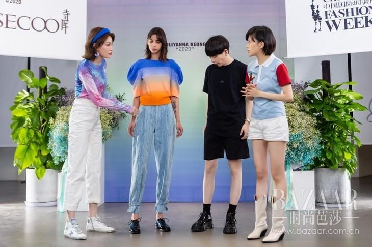 设计师姜悦音、时尚博主布鲁士、时尚买手Cici共同讲解新品