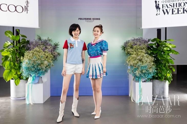 设计师姜悦音和演员刘美含