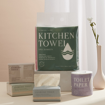 ch22纸品再升级 ,水溶卫生卷纸与有机竹浆厨房纸全新亮相 ,演绎品质生活新体验
