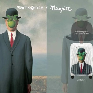 Samsonite发布全新C-Lite x Magritte限量款旅行箱
