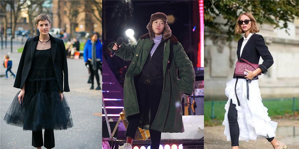 窦靖童被冻成表情包,这个时髦技能,冬天也能穿裙子!
