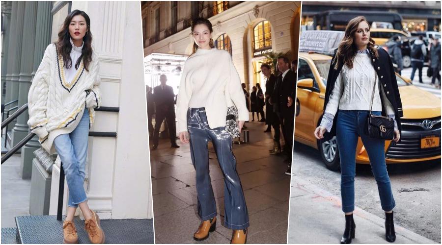 穿上钟楚曦的白毛衣牛仔裤做个不忘初心的女子,看尽人间芳华!