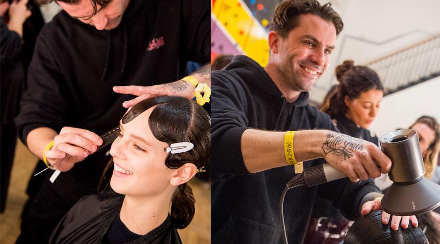 芭姐伦敦时装周后台探访Anthony Turner为JW Anderson大秀打造发型